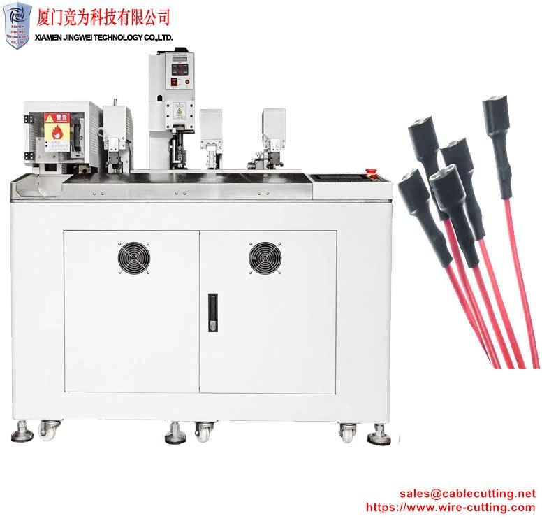 heat shrink tube inserting and twisting tinning crimping machine WPM-006S